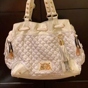 Authentic Juicy Couture white/gold purse
